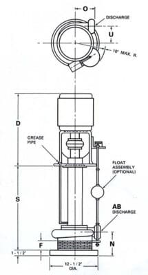 5210-Kerr-Industrial-Sump-Pump-TypeB-drawing