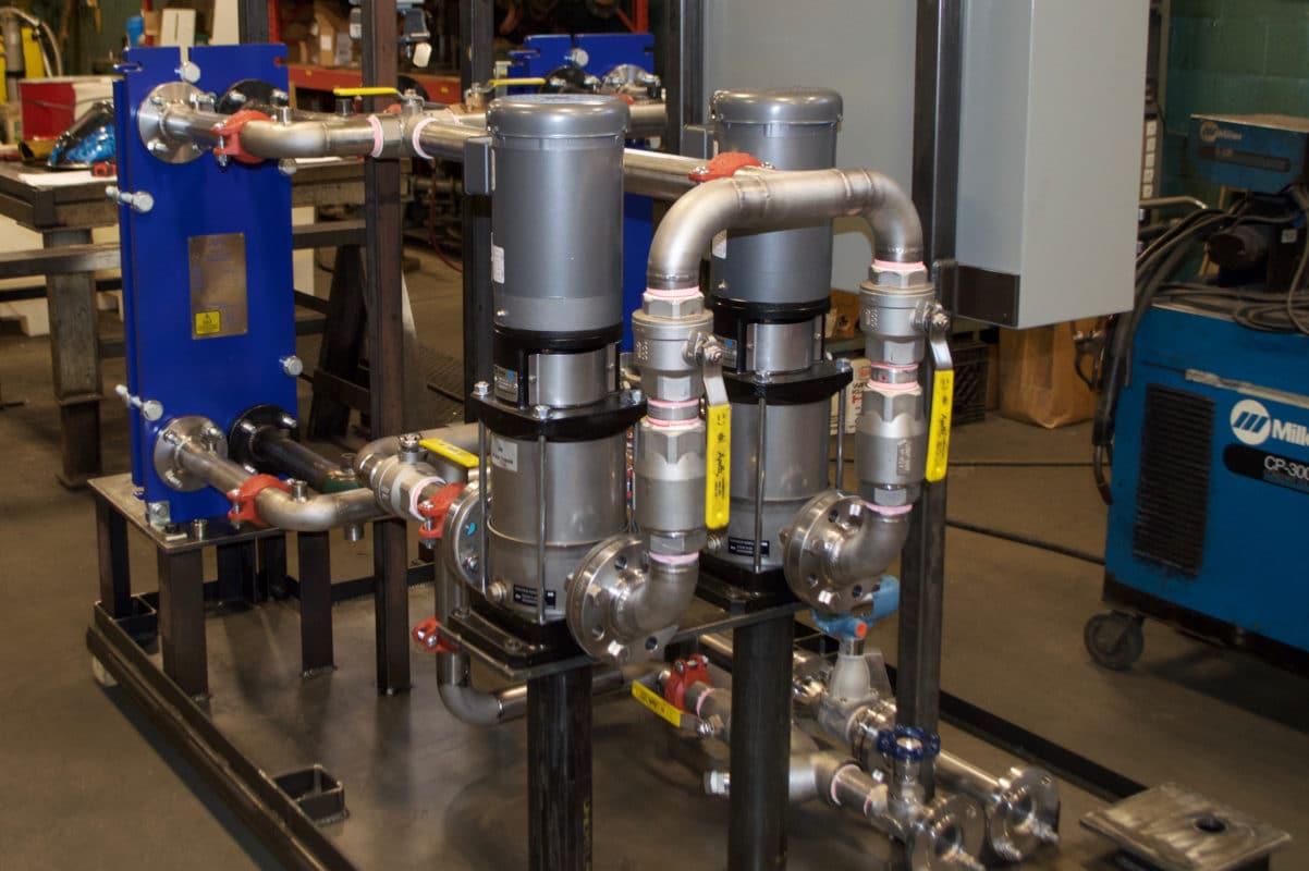 Alfa Laval Heat Exchangers on Pump Skid
